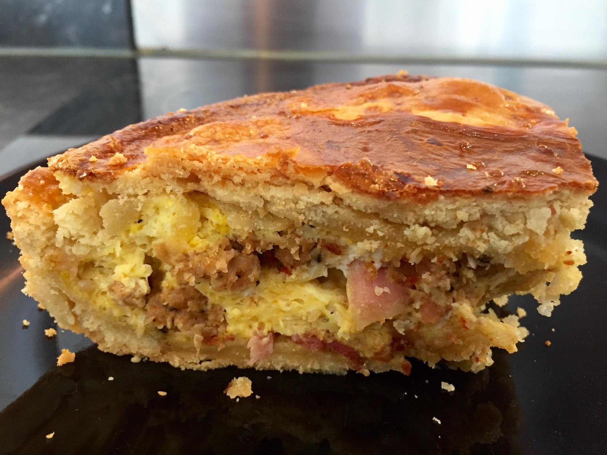 Egg, Bacon & Sausage Pie